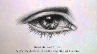 EYE TEARDROP DRAWING TUTORIAL