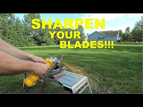 All American Sharpener Sharpening Lawn Mower Blades Review !!!