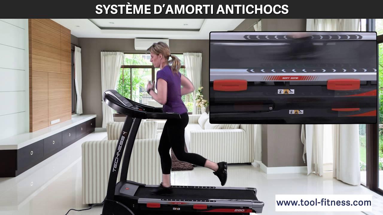 t280 mp3 tool fitness un tapis de course avec excellent systeme d amorti