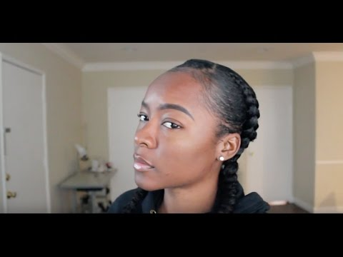 HOW TO Feed in Braid on Natural Hair! EASY Two French