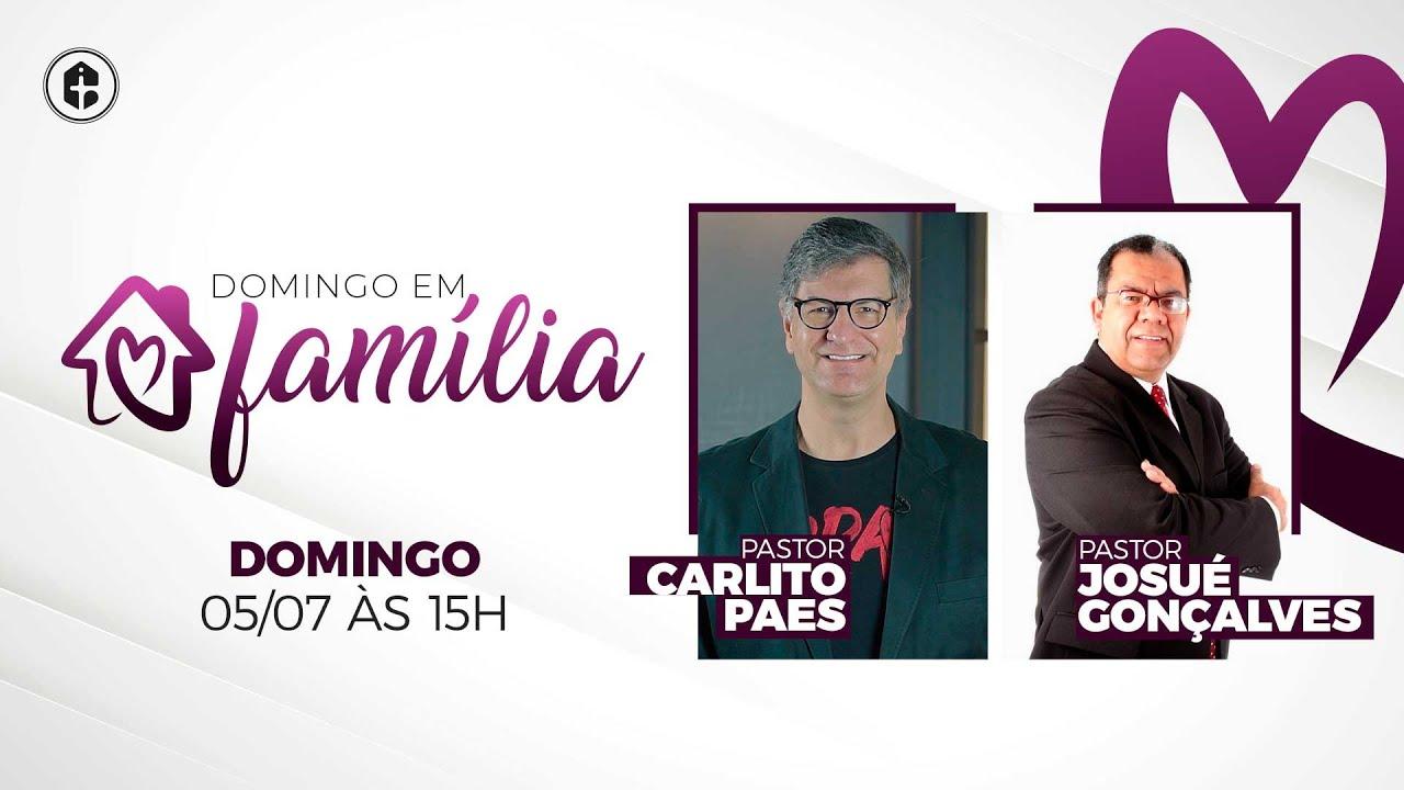 Programa Domingo em Família   Convidado Pr. Josué Gonçalves