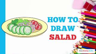 How to Draw Salad in a Few Easy Steps: Drawing Tutorial for Kids and Beginners
