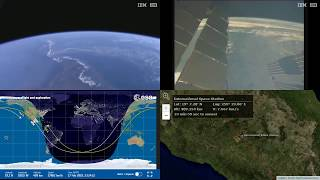 Evening North America - NASA/ESA ISS LIVE Space Station With Map - 488 - 2019-02-17