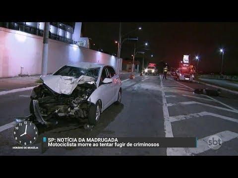 Motociclista morre em acidente após ser perseguido por suspeitos | Primeiro Impacto (30/11/17)