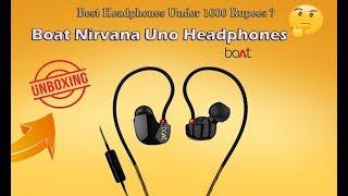 Unboxing boAt Nirvanaa Uno In-Ear Earphones with Mic ~ Best in ear Headphones Under 1000rs ?