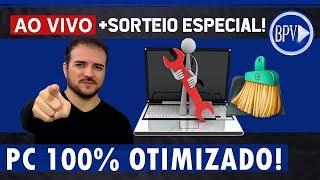 Melhor DESEMPENHO do PC, Limpeza Profunda e Otimização + Sorteio Especial - LIVE BPV