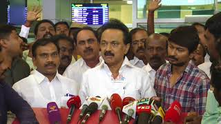 Udhayanidhi Stalin welcomed Daddy (M.K.Stalin)