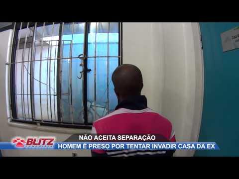 HOMEM É PRESO AO TENTAR INVADIR CASA DA EX