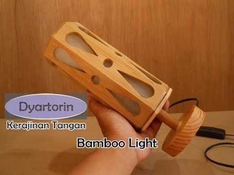 Kerajinan tangan Lampu hias minimalis dari bambu