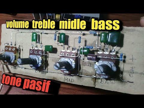 Cara menambah tone midle pada tone control pasif rakitan tanpa pcb