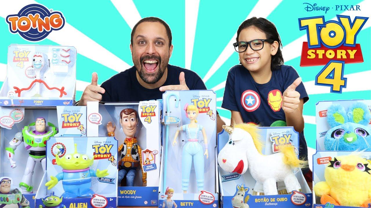 Nova coleção de bonecos do filme TOY STORY 4 da Toyng Brinquedos
