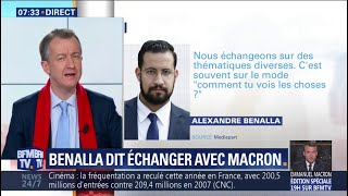 """ÉDITO - Échanges entre Macron et Benalla: """"Il y en a un des deux qui ment"""""""