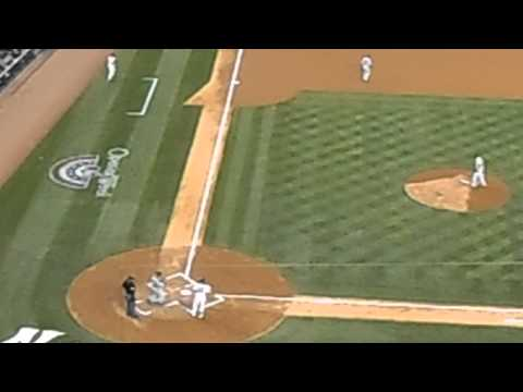 Jacoby Ellsbury first at bat vs. Red Sox 4/10/2014