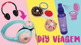 DIY IDEIAS PARA VIAGEM: FreeCô Caseiro, chaveiro multiuso e fone Donuts! Ft. Amanda Morbeck