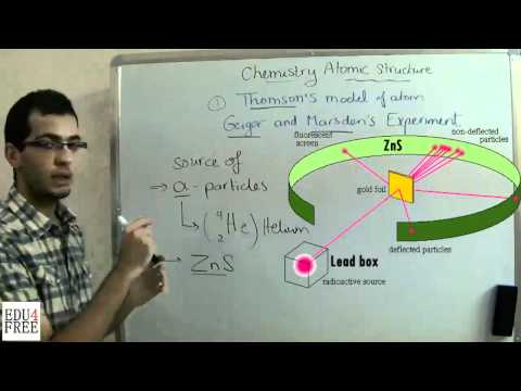 Chemistry - Chapter 1 (Atomic structure) - Geiger and Marsden's Experiment - Abdallah Reda el Sayed