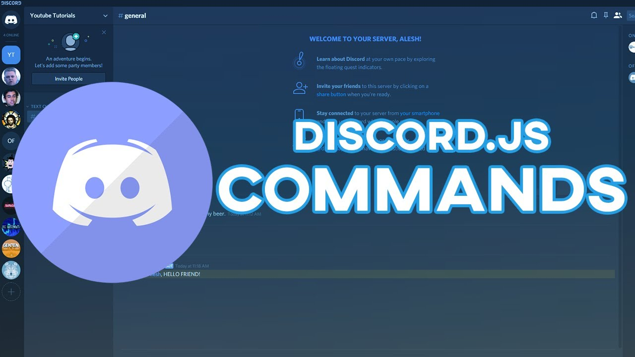 Make Your Own Discord Bot | Commands (NEW 2019)