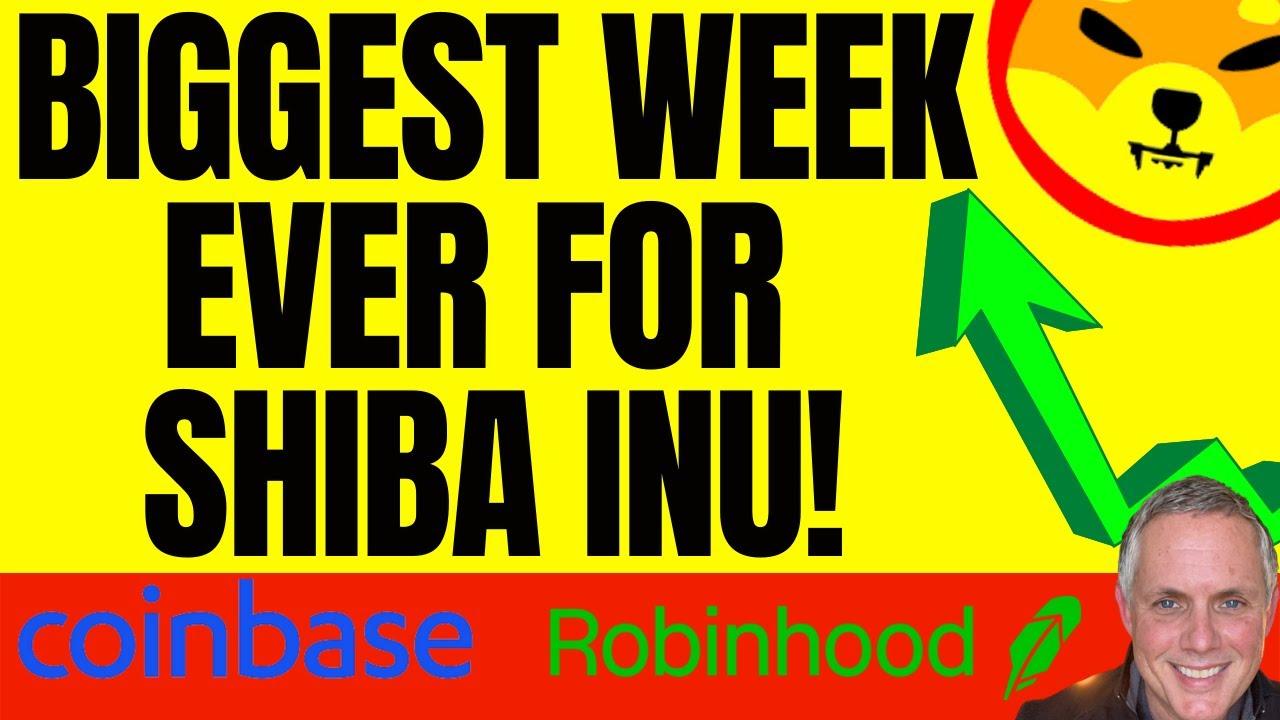 BIGGEST WEEK EVER FOR SHIBA INU COIN! MASSIVE SHIBA INU PRICE PREDICTION!