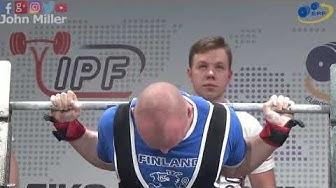 Mikko Ronkainen - 710kg 12th Place 83kg - European Classic Championships 2018