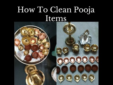 how to clean pooja items easily