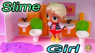 Slime Girl At School ! LOL Surprise Doll Play Video - Cookie Swirl C Part 2