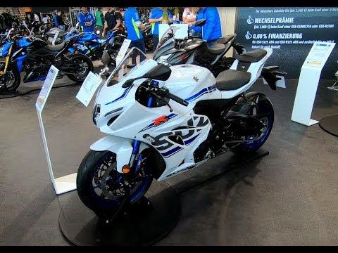 Suzuki GSXR 1000 R Gixxer Ral8 new model compilation 3 white blue and black colour walkaround