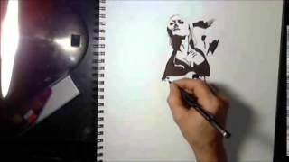 How to draw Lisa Cross Female Bodybuilder