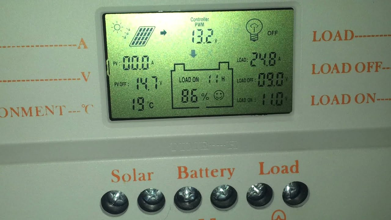 Lcd 30a Mppt Solar Panel Regulator Charge Controller 12v