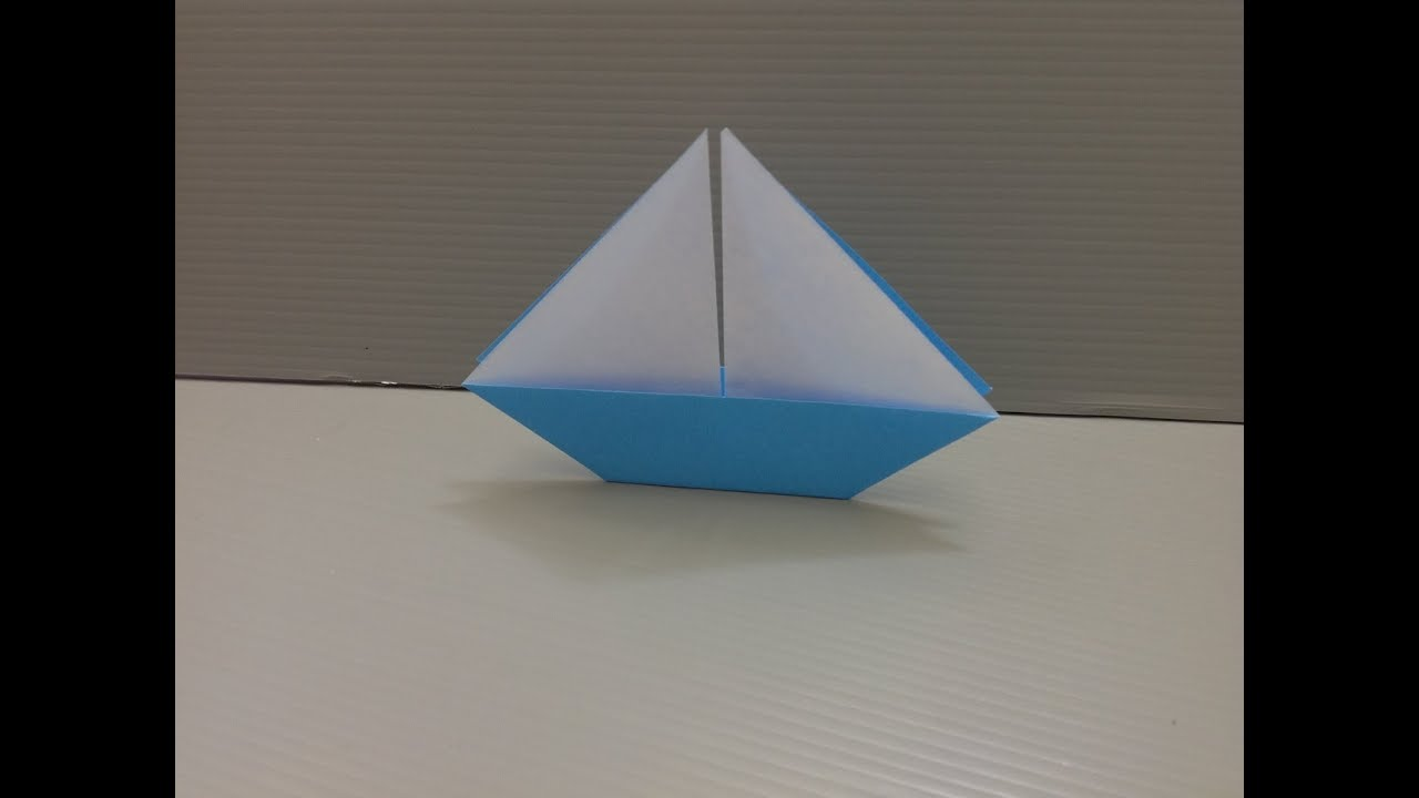 how to make an origami sailboat