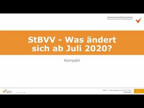 StBVV (Steuerberatervergütungsverordnung) - Was ändert sich ab Juli 2020?