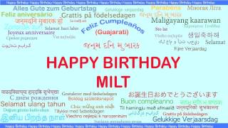 Milt   Languages Idiomas - Happy Birthday