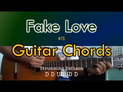 Fake Love - BTS Guitar Cover (3 chords only)