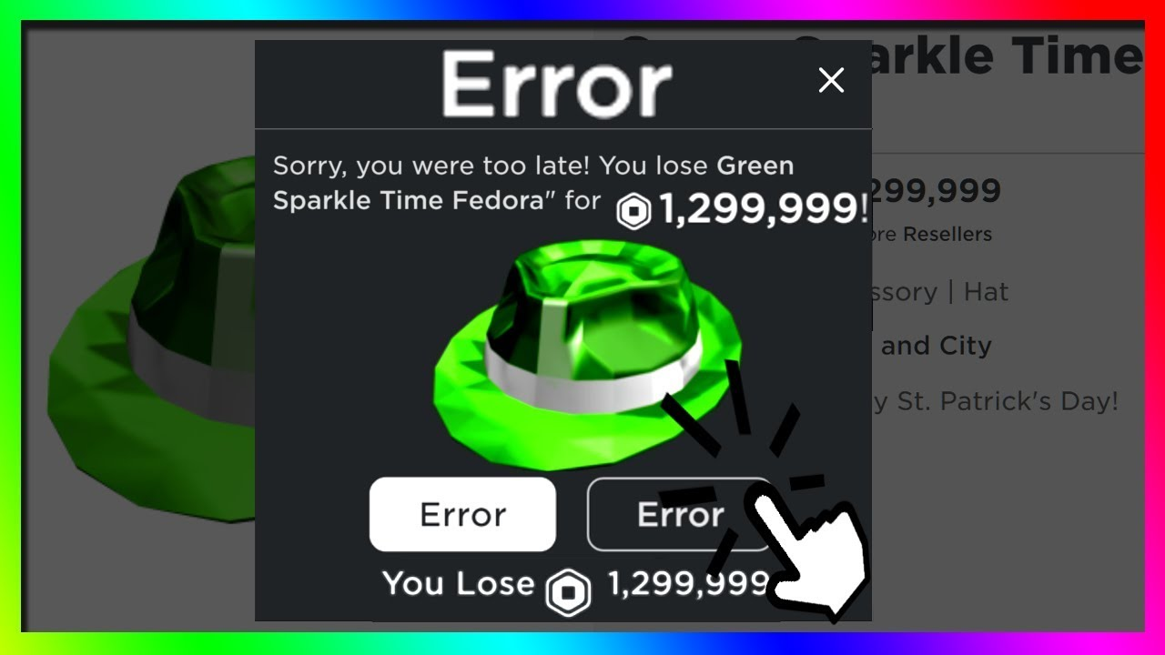 Black Sparkle Time Fedora Roblox How Going To The Bathroom Cost Me Over 1 Million Robux Roblox Youtube
