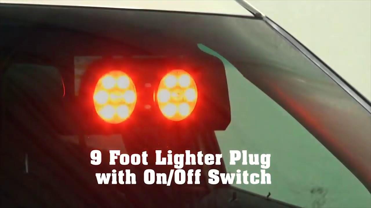 Code-3 Visor Flip Fire and Police 14-LED light with Velcro straps for  mounting, VFP36