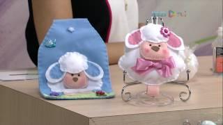 Ovelhas em feltro para cozinha – Rosemary Ansante P1