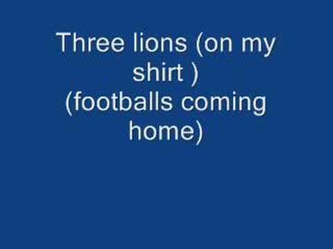 Three lions (on my shirt) (footballs coming home)(1998)