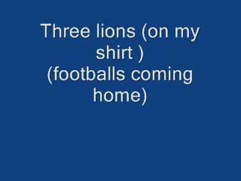 Three lions (on my shirt) (footballs coming home)(1998)
