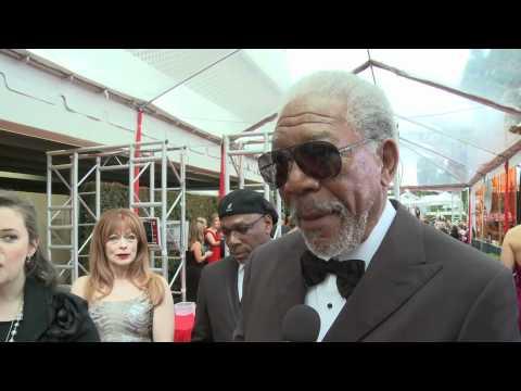 Morgan Freeman - HFPA Red Carpet Interview- Golden Globes 2012