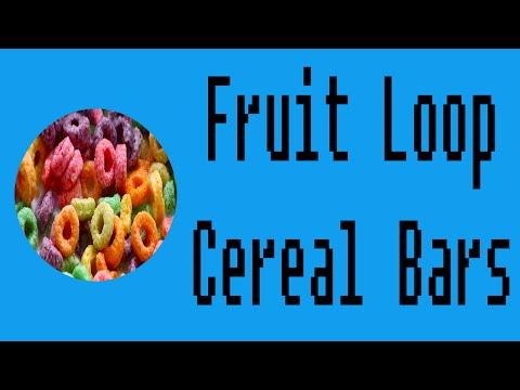 Fruit Loop Cereal Bars Demo