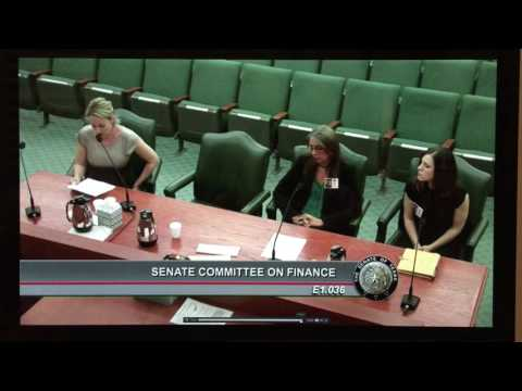 Texas Senate Committee on Finance Medicaid testimony Jennifer Hall