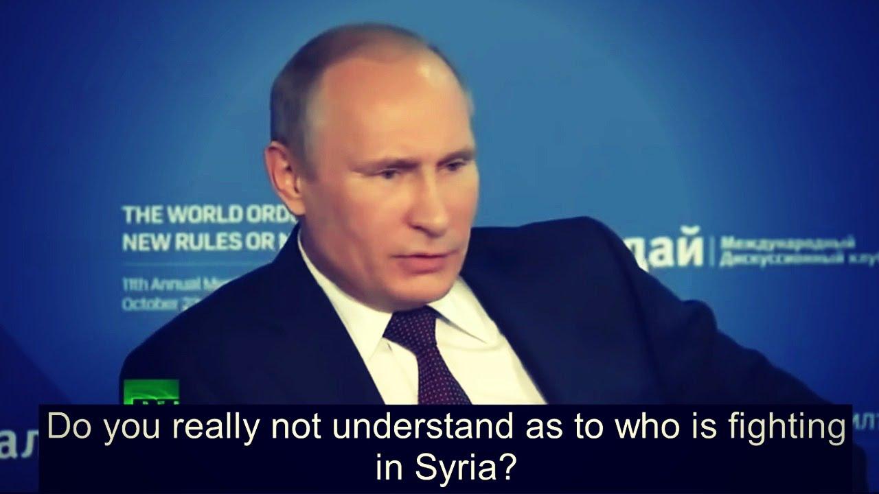 Putin speaks to the Western Presstitutes