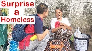 Pinoy SOCIAL EXPERIMENT: Surprise a Homeless (Nanay Masayahin)