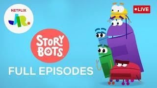 🔴 LIVE! Full Episodes of 🤖 StoryBots | Netflix Jr