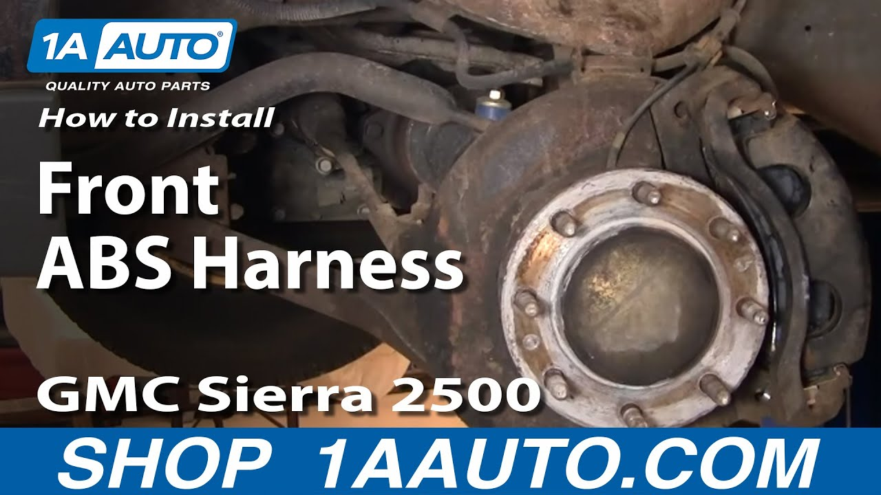How To Install Replace Front Brake ABS Harness Silverado Sierra Suburban 1AAuto  YouTube