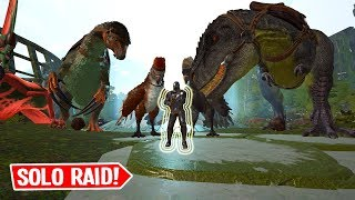 Destroying A Tribe Solo! - ARK Solo Small Tribes PvP