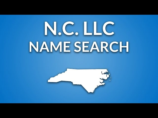 North Carolina Llc Name Search