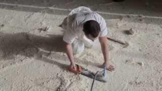 Isolation des sols en polyuréthane projeté
