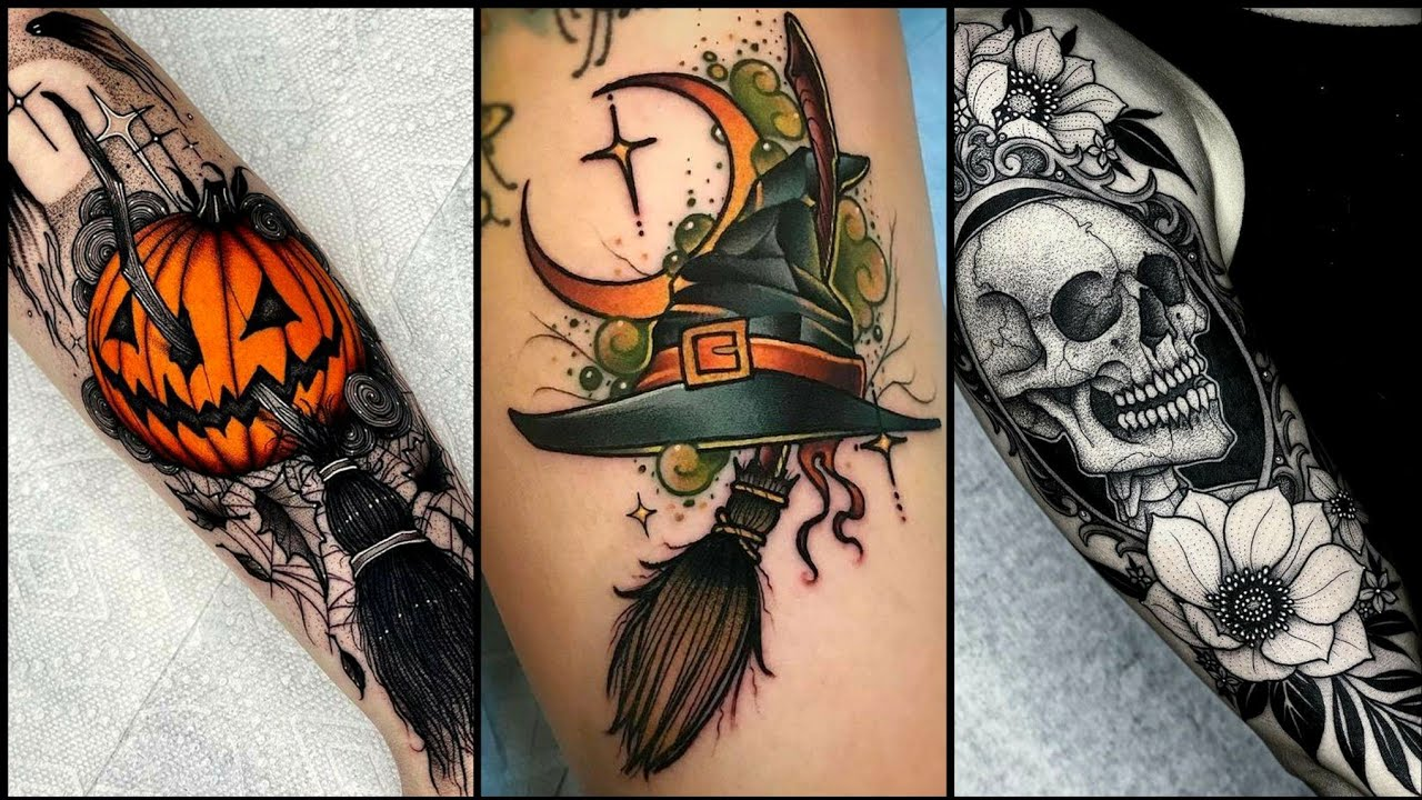 If you're looking for a tattoo design that will inspire you, it's important to make your research process personal. Top 10 Cutest Creepy Halloween Tattoo Ideas Amazing Elegant Diy Youtube