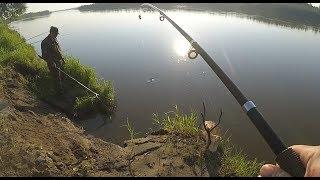 Лещ на фидер, поиск хищника, рыбалка на Оби