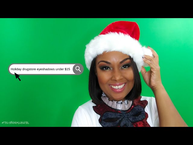 Holiday Drugstore Eyeshadow Looks For Under $15 | Holiday Glam | LA Girl | This Bahamian Gyal