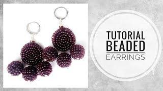 #МК - Серьги из бисера | #Tutorial - Beaded earrings